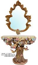 primera calidad tocador mueble repujado mueble entrada con espejo