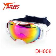 Panlees 2015 ski nueva/esquí gafas de visión nocturna vasos logotipo personalizado de cristal deportes de nieve