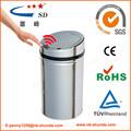 50l tema caliente en europa sensor de manos libres de cubo de basura de acero inoxidable cubo de basura