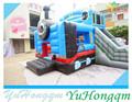 china 2014 baratos diseño thomas tren gorila inflable combinado con tobogán para la venta