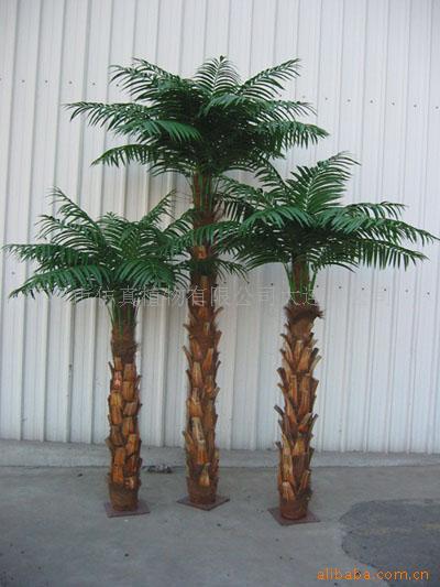 Tronc de fiber de verre en plastique artificielle palmier for Arbre decoratif exterieur
