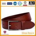hecho a mano marrón marca de moda cinturón de cuero