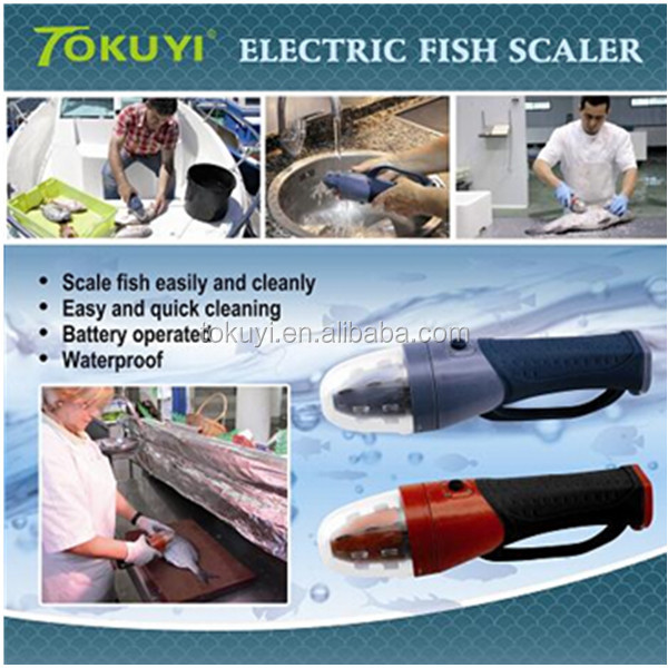 2016 as seen on tv battery operated electric fish scaler for Electric fish scaler
