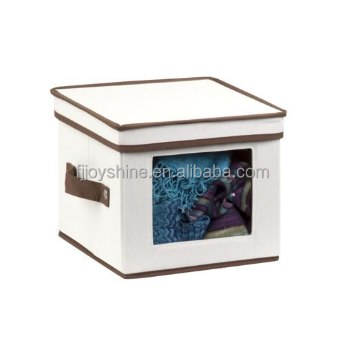 Canvas Clothing Storage Box Nature Canvas Bag Storage Box