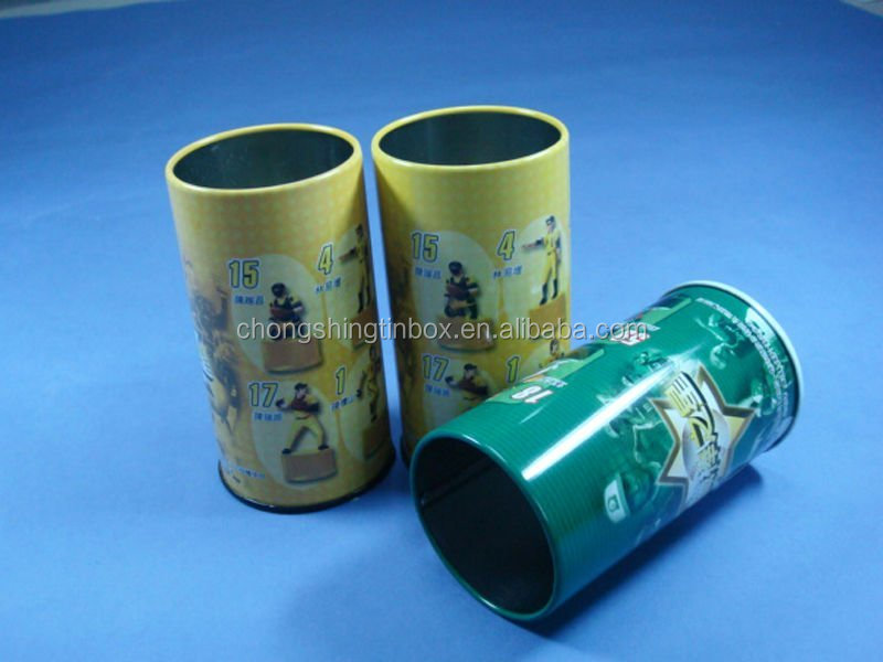 round pencil packaging tin can