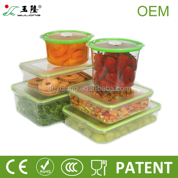 Bpa Free Rectangular Plastic Vacuum Food Storage Containers With