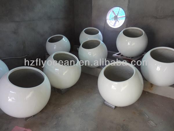 Fo-299 Grande Boule Décorative En Fibre De Verre Pots De Fleurs-Pots