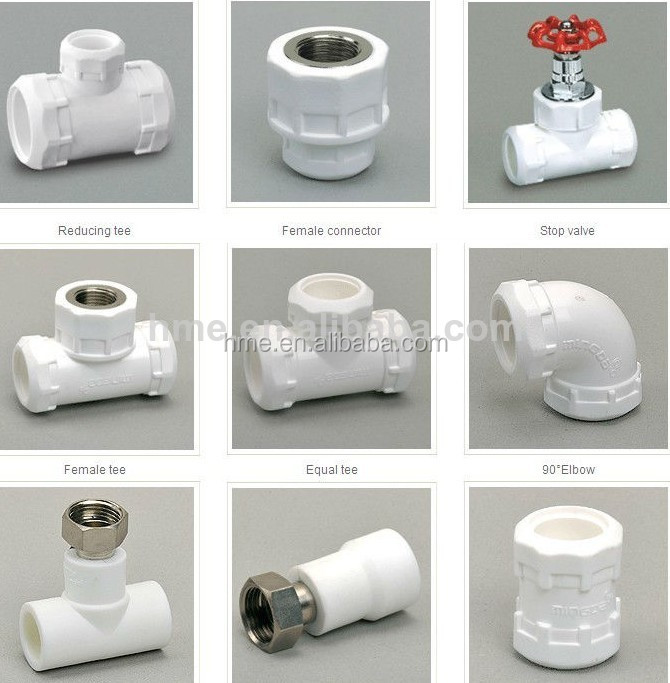 Ppr names pipe fittings plumbing and