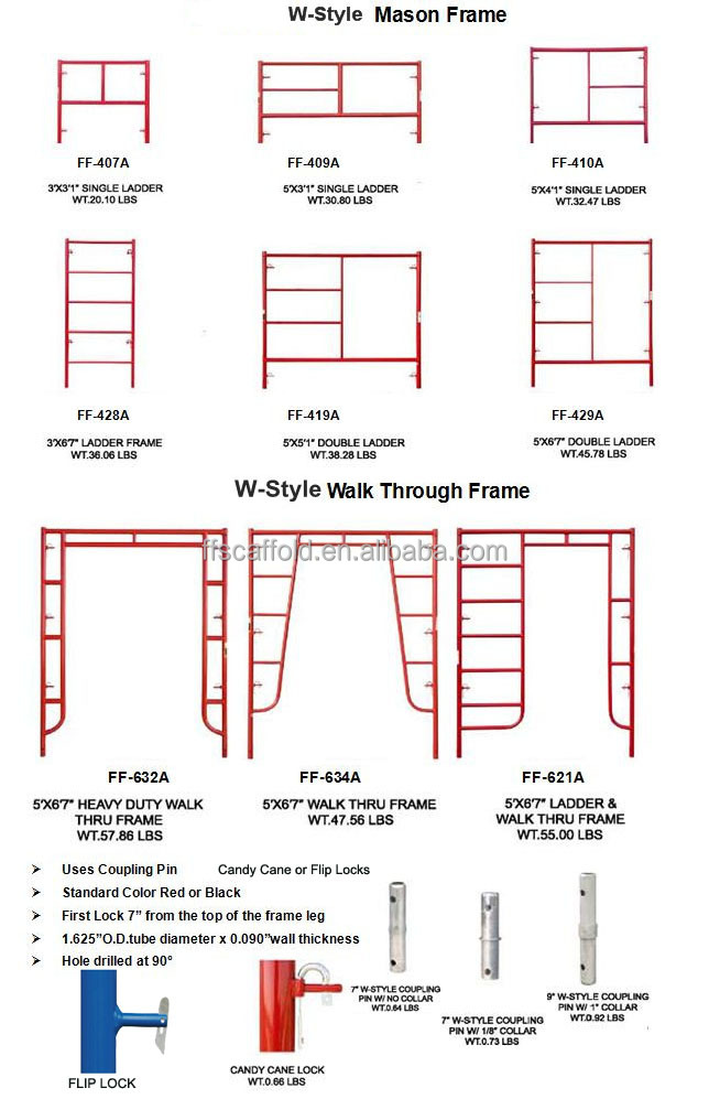 Walk Through H Frame Scaffolding - Buy Frame Scaffolding,H Frame ...