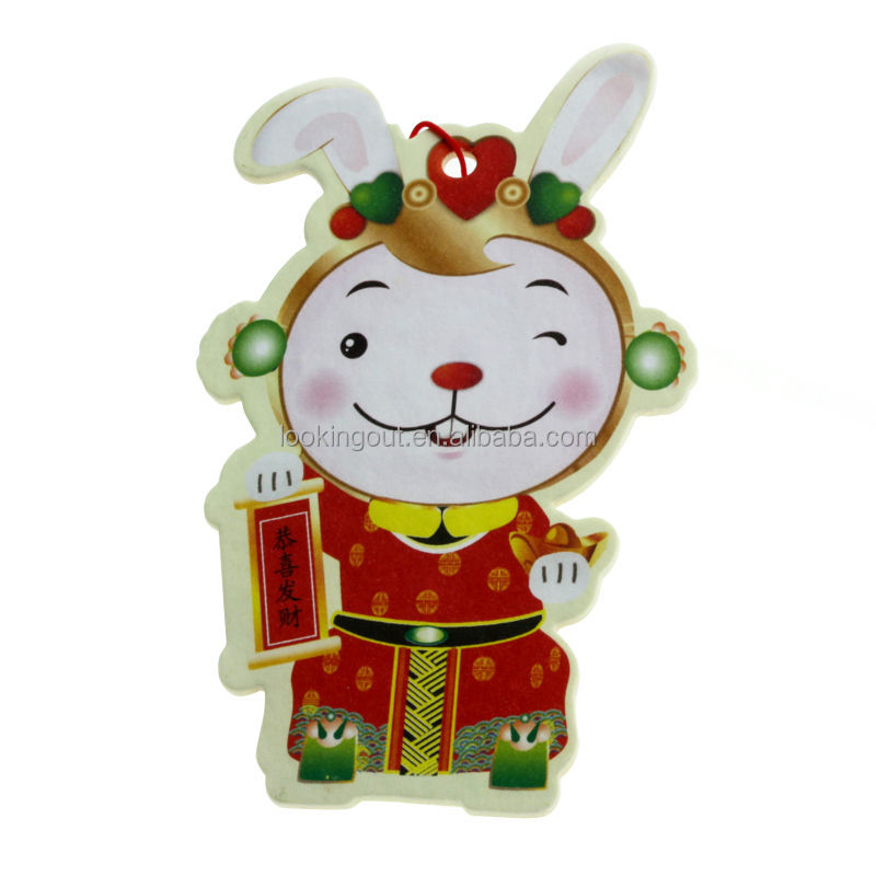 custom making hanging paper car air freshener with China supplier