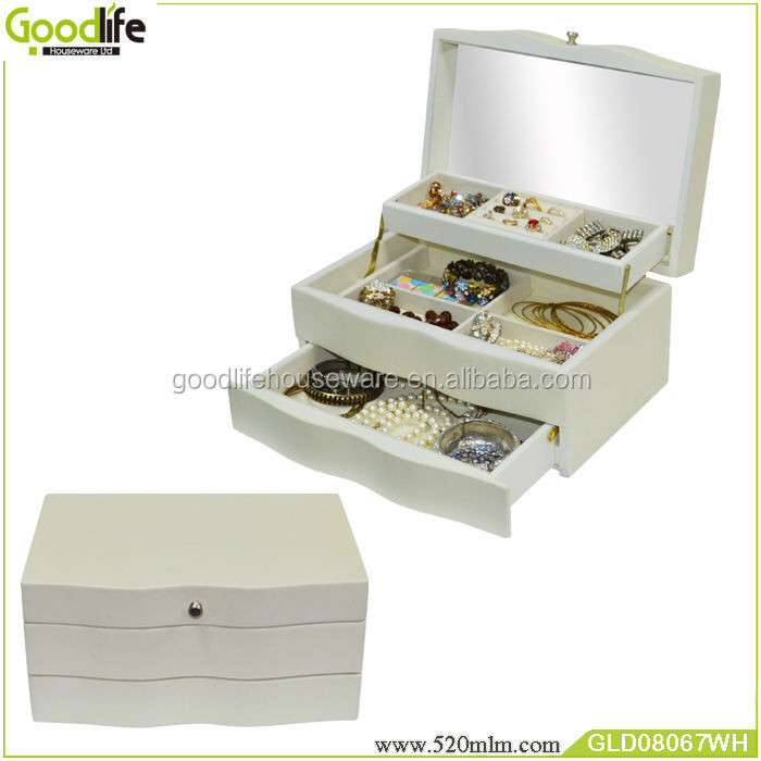 Wooden makeup box with inside mirror GLD08067 from Goodlife