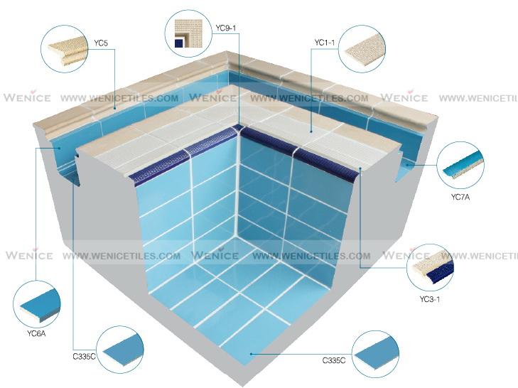 01a 240x115mm Standard Fina Deck Swimming Pool Ceramic Tiles Buy Swimming Pool Ceramic Tiles