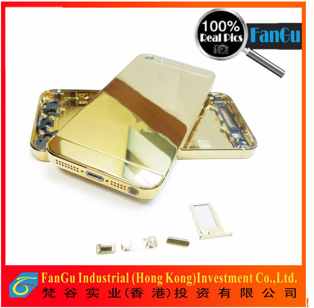for iphone 5 24k gold plating back cover for iphone5s in factory wholesale