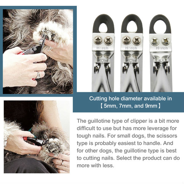 Pet nail care product, guilltine clipper type pet nail cutter