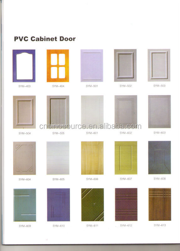 China Manufacture Kitchen Furniture Pvc Cabinet Door Used Kitchen