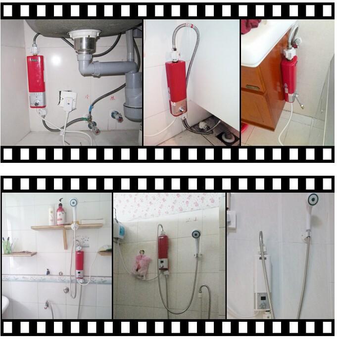 3500W мини-стену крепление мгновенный электрический воды нагреватель кран Электрический подогрев воды для нагрева воды в душ