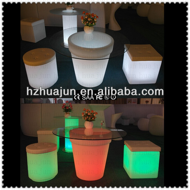 2014 luminous hot sale new design top led bar table