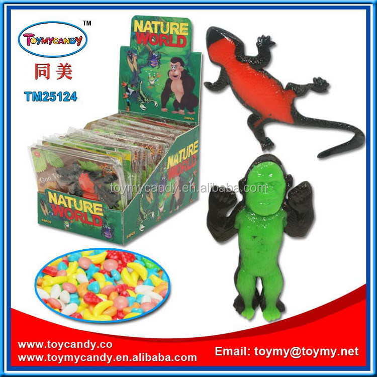 Nature world mini rubber animals candy toy from Shantou China exporter natural world mini toy animals for boys