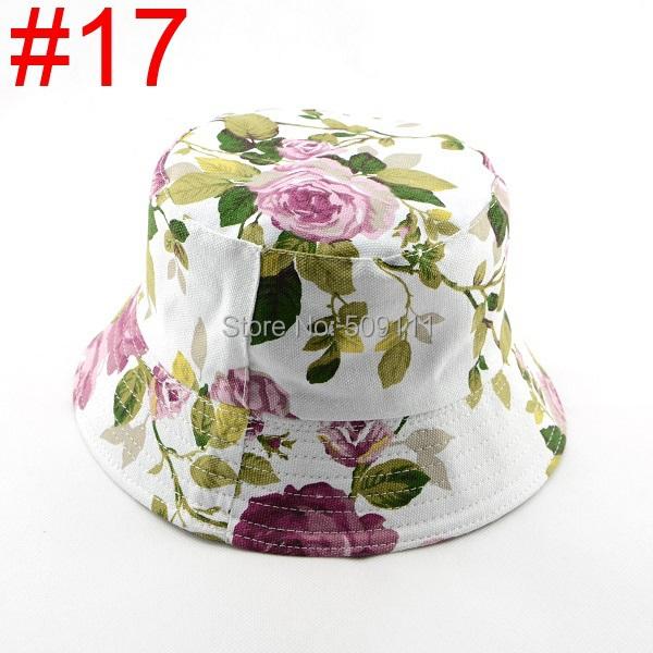 Новый женщин хлопка шлем ведра рыбалка Hat Sun пляжа лета Hat цветочный цветок шляпа 1 шт. WH001