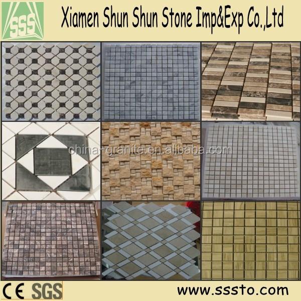 Natural de pedra cor da mistura quente vender mosaico de mármore para o banheiro