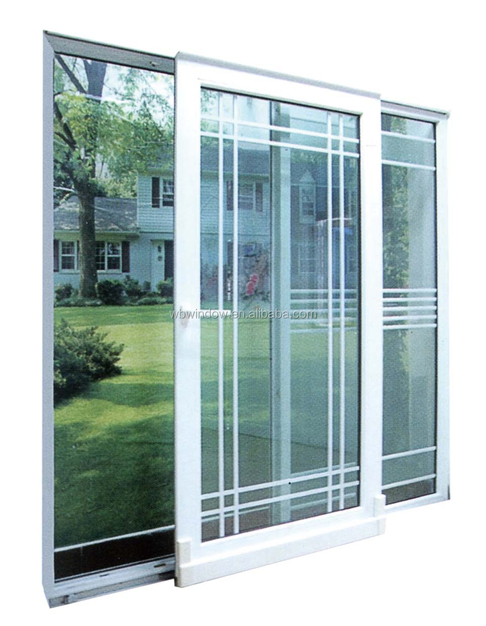 Energy Star Doubletriple Insulating Glass Pvcupvc Sliding Doors