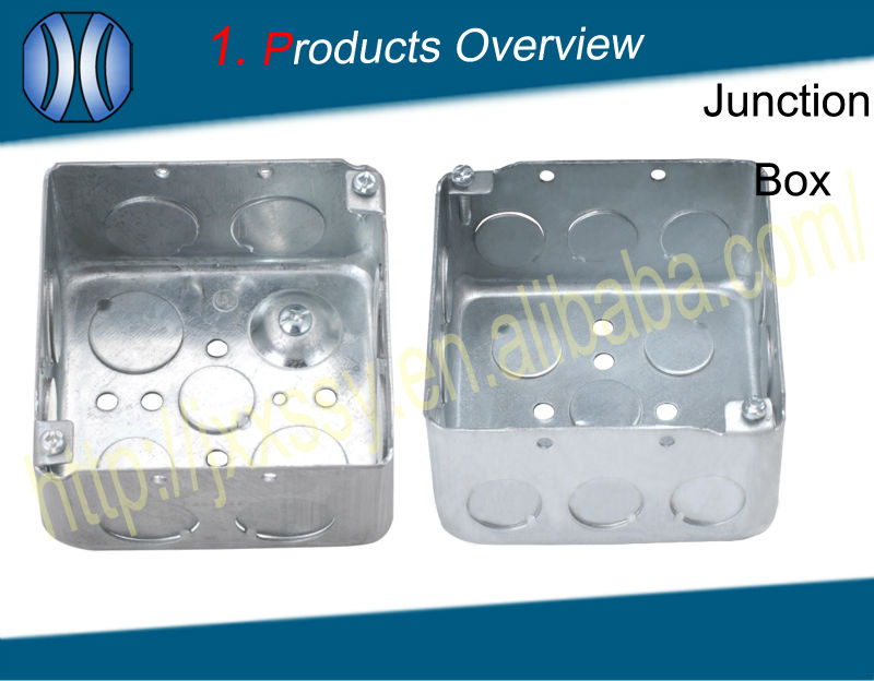 4x4 Square Galvanized Electrical Metal Ground Terminal Junction Box ...