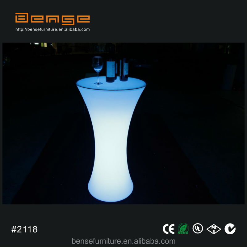 Led light up bar table led cocktail table for events party for Cocktail tables led