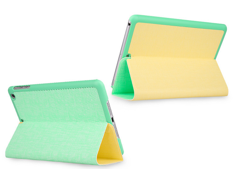 New Style crossing grain leather case for ipad , for ipad air