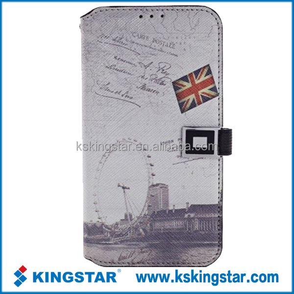 leather window for samsung pu note2 case