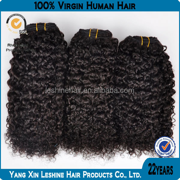 CHAUDE Nouveau Produit 2014 Chine Fabricant Alibaba express vierge armure de cheveux crépus bouclés