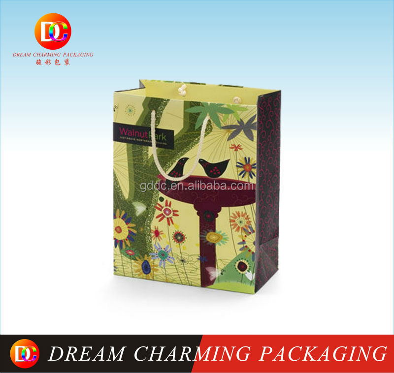 customized fancy ribbon tie gift bag