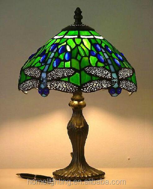 잠자리 티파니 스테인드 글라스 테이블 램프-테이블 램프 및 ...