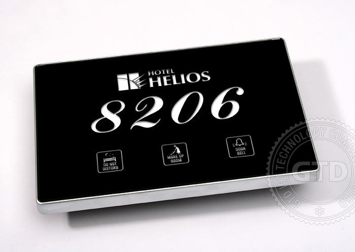 H tel porte plaques avec led de l 39 affichage de num ro de for Numero de chambre