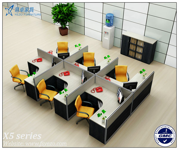 Wholesale modern office furniture partitions for 4 persons for Cubiculos de oficina