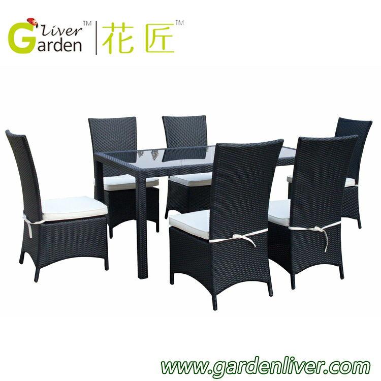 großhandel outdoor wicker esstisch und stühle ratan esstisch möbel, Esszimmer dekoo