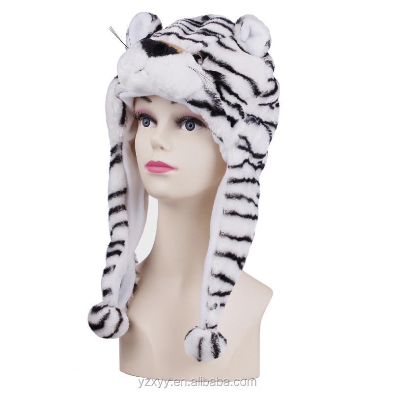 Winter Tiger Plush Animal Hats