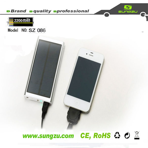 2600MAH hot sale Aluminium universal portable cell phone charger
