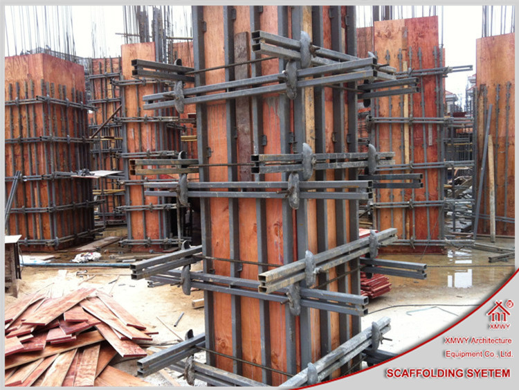 Design Of Concrete Wall Formwork : Adjustable aesthetic steel concrete column formwork with