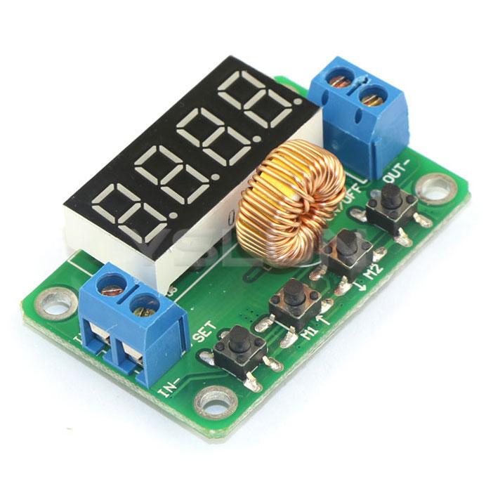 DC4.5-23V в 0-20 2A 30W цифровой контроллер питания напряжение Buck конвертер Регулятор + Зеленый светодиод Вольтметр Показать 0