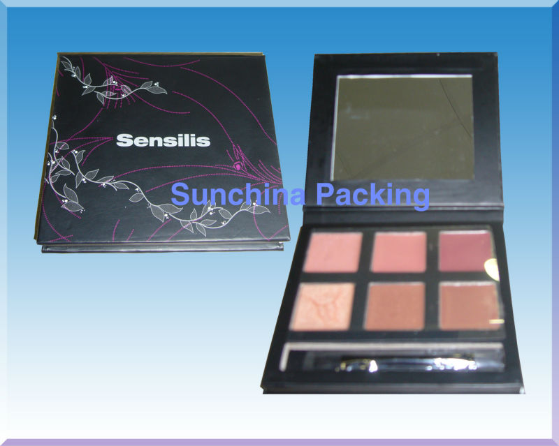 Elegant Paper Eyeshadow Palette for Cosmetic Packing
