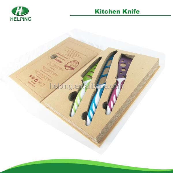 Non-stick stainless steel Color kitchen Knife Set