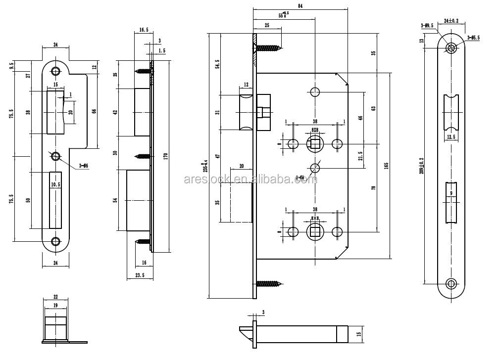 Mortaise porte de salle de bains serrures id de produit 1888722594 - Dimensions porte interieure ...