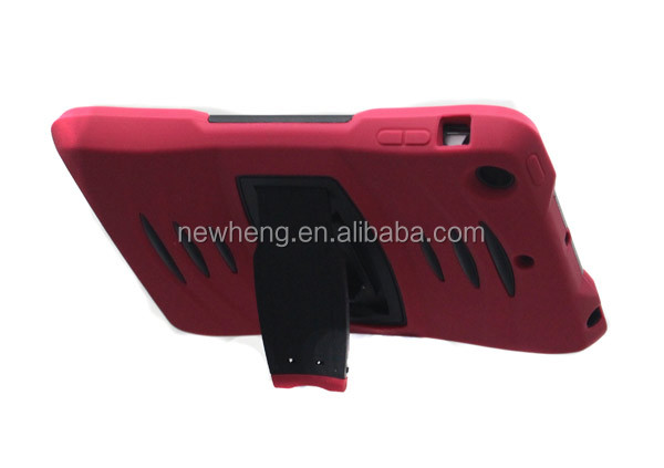 heavy duty 2 in 1 silicone plastic hybrid case stand for ipad air 5