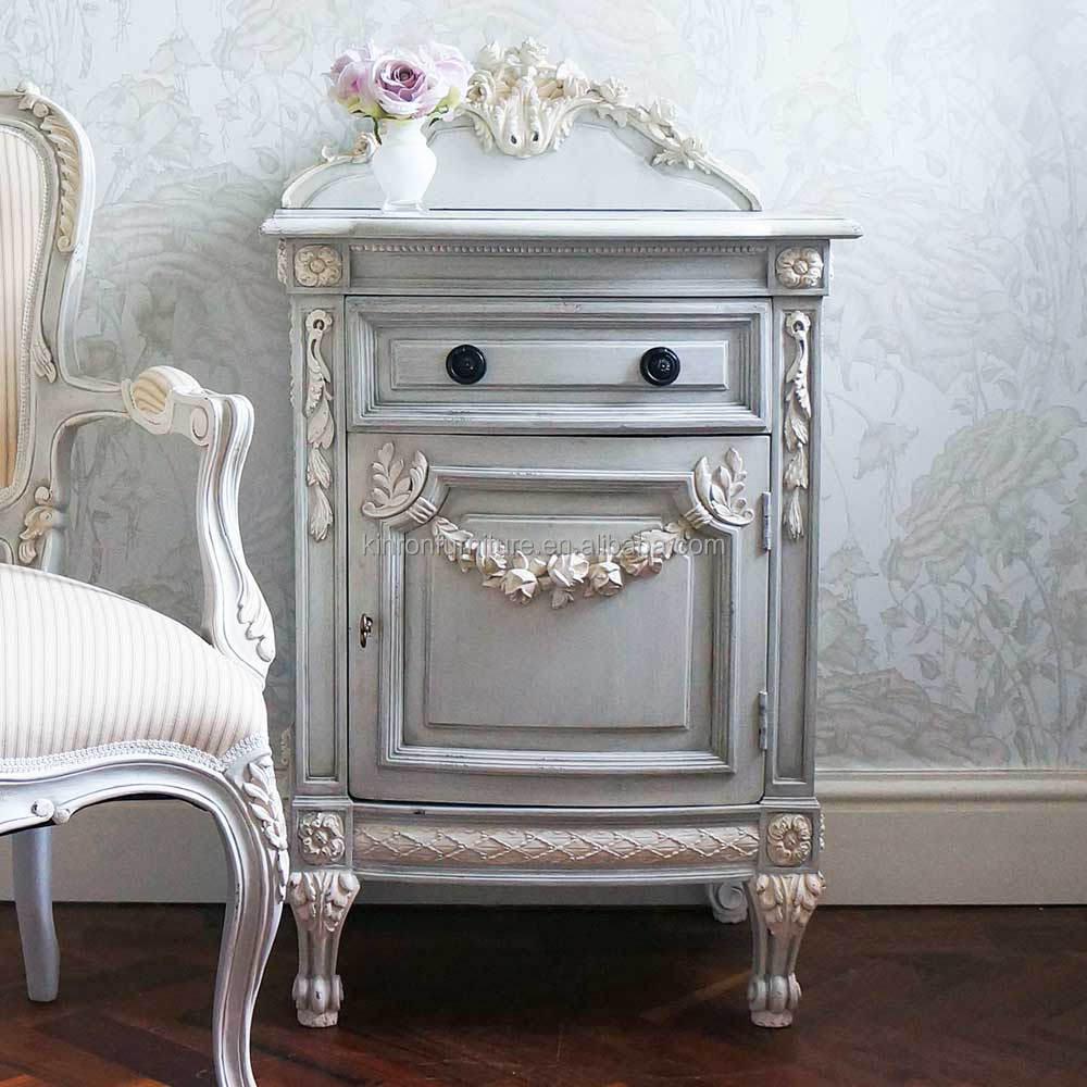 Antieke witte slaapkamermeubelen voor hotelkamer meubilair ...