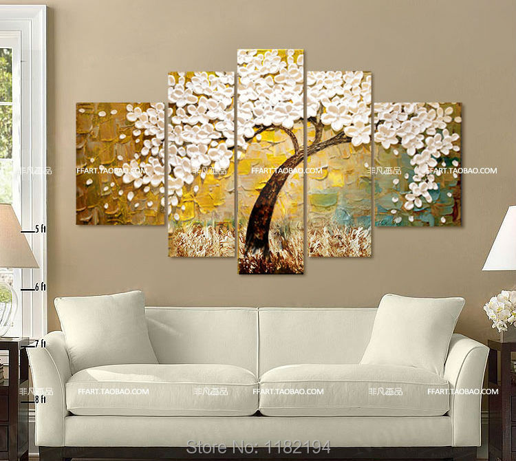 Big Size Hand Painted Modern Home Wall Art Living Room Hall Decor