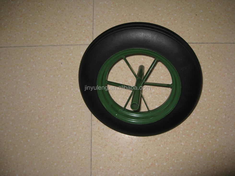 13*3 prower solid rubber wheel , can use for wheelbarrow, hand truck ,trolley
