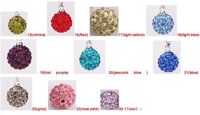 משלוח חינם Shamballa עגילי סט שרשרת סיטונאית תכשיטי אופנה קריסטל יהלומים מלאכותיים AB