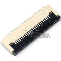 0.5 грейферный risym ffc / fpc разъемы 0,5 мм плоский разъем кабеля сокет подключения 24p 24 p раскладушка под следующий выбор