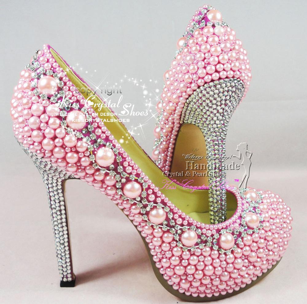 Rhinestone Pink Heels