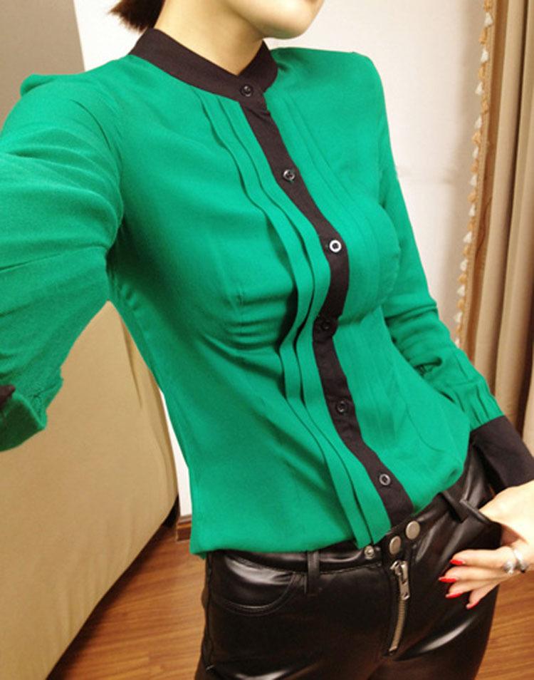 Зеленая Блузка Фото
